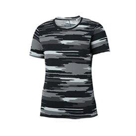 アシックス W'S ランニング プリントTシャツ XXL579-1197 IDグレー M 半袖Tシャツ ウィメンズ レディース