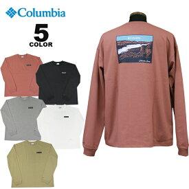 コロンビア スポーツウェア Tシャツ Columbia HANGING ROCK FALLS LONG SLEEVE TEE ハンギング ロックフォールズ ロングスリーブ ティー T-SHIRTS 全5色 S-XL メンズ ロンティ オムニシェード UPF50 リラックスフィット ビッグシルエット ヘビーウェイト バックプリント