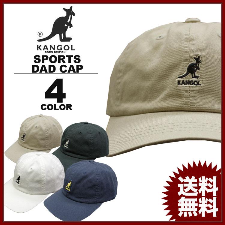 カンゴール キャップ KANGOL COTTON SPORTS CAP Dad HAT キャップ 帽子 ベージュ ホワイト 白 ブラック 黒 ネイビー カーブキャップ ローキャップ メンズ レディース