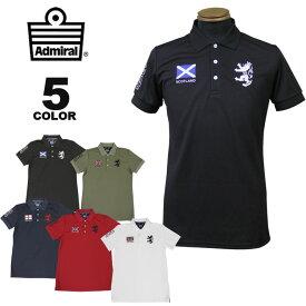 アドミラル ゴルフ ポロシャツ Admiral GOLF FLAG MESH POLO SHIRTS 半袖ポロ 全5色 M-LL 吸水速乾 抗菌防臭 UVカット メンズ