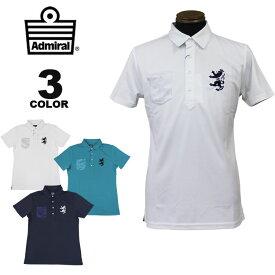 アドミラル ゴルフ ポロシャツ Admiral GOLF PARTS CAMO POCKET POLO SHIRTS 半袖ポロ 全3色 M-LL 接触冷感 メンズ