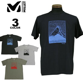 MILLET ミレー Tシャツ HUGO PENCILE MT TS S/S T-SHIRTS 半袖 TEE 全3色 メンズ