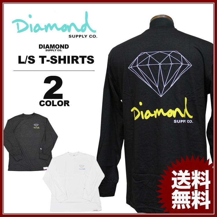 ダイヤモンドサプライ Diamond SUPPLY CO. 長袖Tシャツ OG SIGN L/S T-SHIRTS 黒 ブラック 白 ホワイト ロンティ ロンTEE メンズ レディース