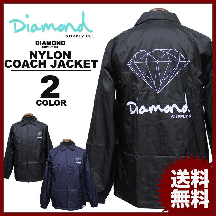 ダイヤモンドサプライ Diamond SUPPLY CO. コーチジャケット ジャケット OG SIGN COACH JACKET ネイビー ブラック 黒 メンズ