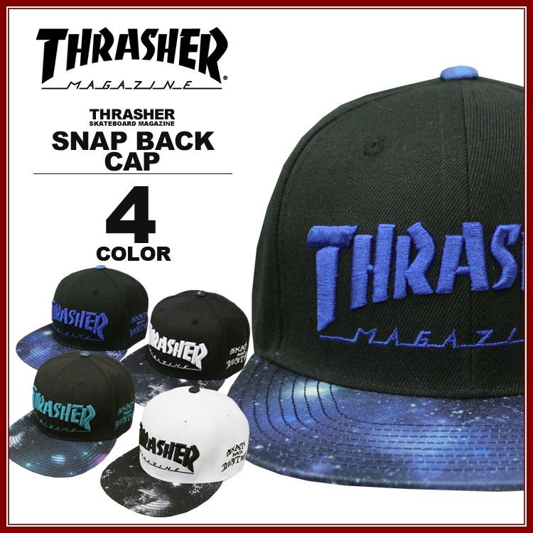 スラッシャー THRASHER 帽子 GALAXY フラットバイザーキャップ メンズ レディース スナップバック 全4色