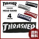 スラッシャー THRASHER MAG LOGO HEAD BAND ブラック 黒 グレー ネイビー レッド 赤 メンズ レディース ヘッドバンド ヘアーバンド