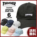 スラッシャー THRASHER MAG LOGO SPORTS CAP Dad HAT キャップ 帽子 ブラック 黒 ホワイト 白 ネイビー ピンク ブルー イ...