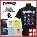 スラッシャー THRASHER Tシャツ 半袖 PEANUTS T-SHIRTS 1 スヌーピー SNOOPY ピーナッツ ブラック 黒 ホワイト 白 イ…