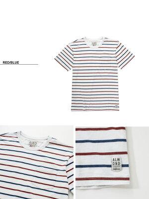 AlmondSurfboards&DesignWESTPORTSTRIPET-SHIRTS【アーモンドサーフボードデザインボーダー半袖Tシャツ】