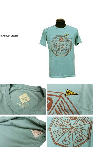 アーモンドサーフボードデザインAlmondSurfboards&Design×SLIGHTLYCHOPPYPINWHEELT-SHIRTSスライトリー・チョッピーコラボ半袖TシャツグリーンS-Lメンズ