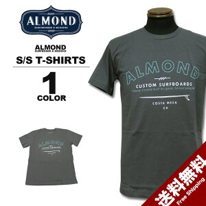 アーモンドサーフボードデザインAlmondSurfboards&DesignGRAYSONT-SHIRTS半袖TシャツチャコールグレーS-Lメンズ