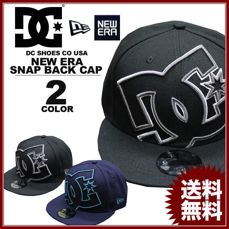 ディーシー シューズ DC SHOES キャップ New Era DOUBLE UP SNAP BACK CAP ブラック 黒 ネイビー ニューエラー メンズ レディース