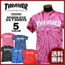 スラッシャー THRASHER Tシャツ MAG SPIDER TIE-DYE T-SHIRTS 半袖 タイダイ染め ピンク ネイビー ブラック 黒 ブルー…
