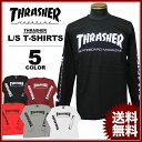 送料無料 スラッシャー THRASHER Tシャツ 長袖 ロンティ MAG SLEEVE L/S T-SHIRTS メンズ レディース ブラック 黒 ホワイト 白 ワイン バーガンディ グレー レッド