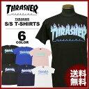 スラッシャー THRASHER Tシャツ 半袖 FLAME 3C S/S T-SHIRTS ブラック 黒 ホワイト 白 ネイビー ロイヤルブルー ピン…