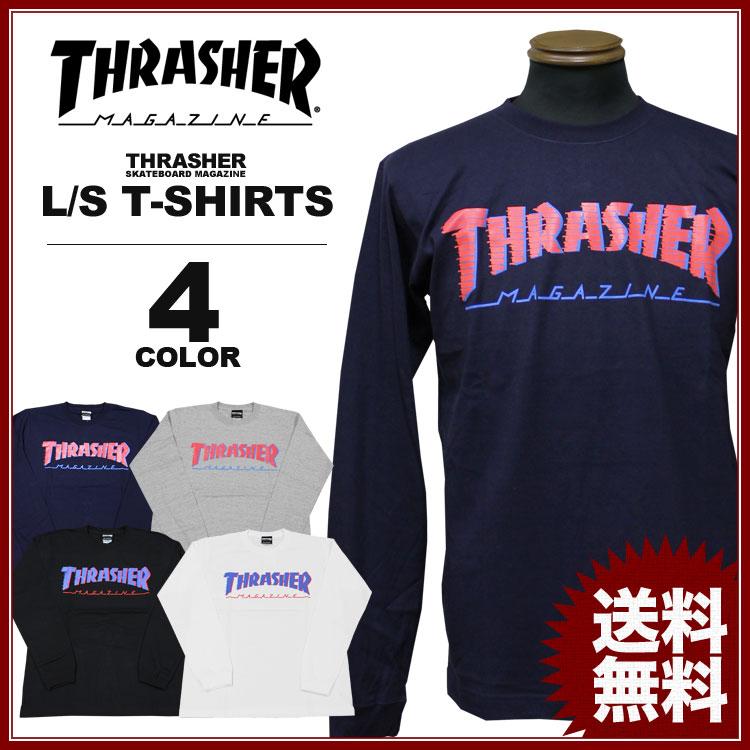スラッシャー THRASHER ロンT BAR MAG ロングTシャツ メンズ レディース 定番プリント 全4色 S-XXL