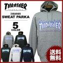 スラッシャー THRASHER スエット パーカ FLAME 3C SWEAT PARKA フードスエット パーカー ブラック 黒 グレー ホワイト…
