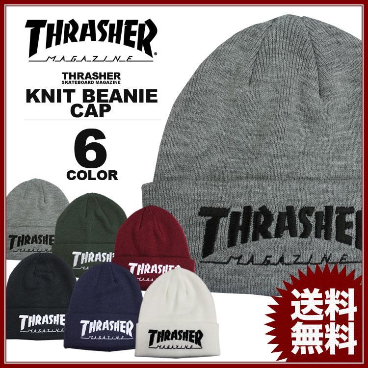 スラッシャー THRASHER ニット帽 MAG LOGO ビーニーニットキャップ メンズ レディース 全6色