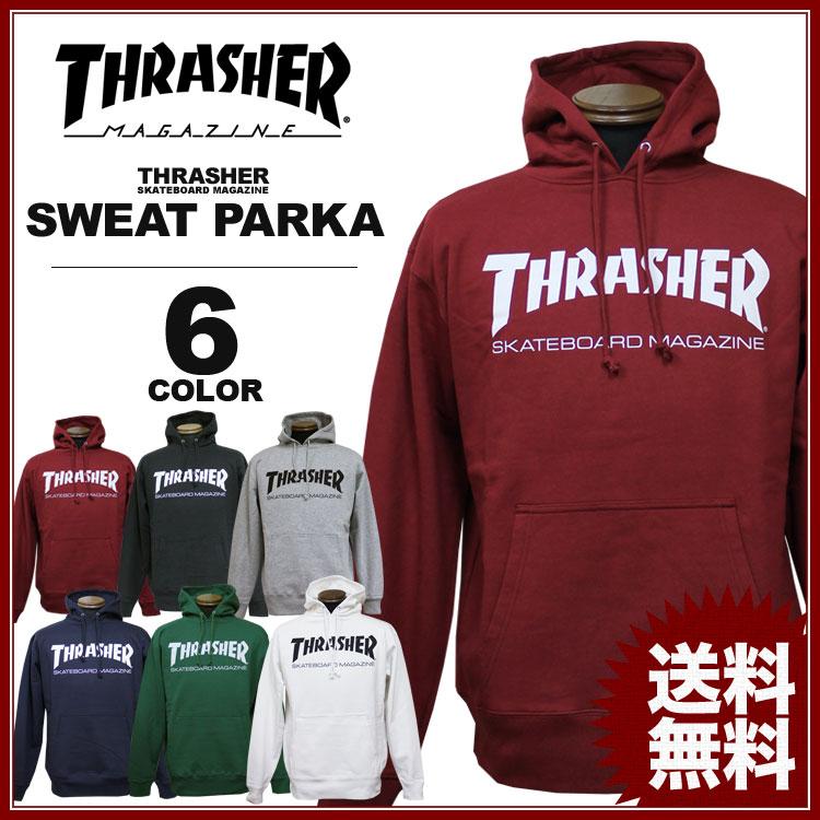 スラッシャー THRASHER トレーナー パーカー MAG LOGO プリント プルオーバーパーカ メンズ レディース 裏毛スウェット 全6色 S-XL
