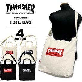 スラッシャー THRASHER トートバック BOX MAG CANVAS LARGE TOTE BAG キャンバス メンズ レディース 全4色