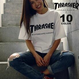 【公式】スラッシャー tシャツ スラッシャー THRASHER ロゴT MAG LOGO Tシャツ メンズ レディース 定番デザイン 全10色 S-XXL