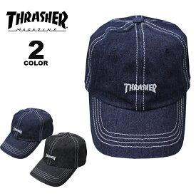 スラッシャー キャップ 帽子 THRASHER DENIM STITCH DAD CAP メンズ レディース カーブキャップ ローキャップ 全2色