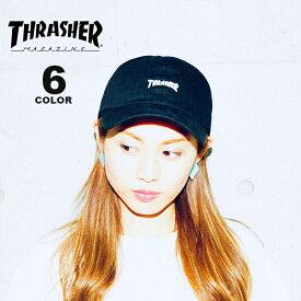 スラッシャー THRASHER MAG LOGO SPORTS CAP Dad HAT キャップ 帽子 ブラック 黒 ホワイト 白 カーキ ベージュ デニム カーブキャップ ローキャップ メンズ レディース