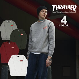 【公式】スラッシャー スエット トレーナー THRASHER HOMETOWN RED CREW SWEAT クルースエット メンズ レディース 裏起毛スウェット 全4色 S-XL