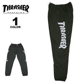 【公式】スラッシャー スウェット パンツ THRASHER SKULLS SWEAT PANTS メンズ レディース 裏起毛 ブラック 黒 S-XL