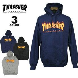 【公式】スラッシャー パーカー THRASHER FLAME HOODIE SWEAT PARKA プルオーバー パーカ スエット インポート メンズ レディース 裏起毛スウェット 全3色 S-XL