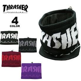 【公式】スラッシャー ネックウォーマー THRASHER MAG LOGO JACQUARD NECK WARMER メンズ レディース 全4色