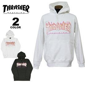 【公式】スラッシャー パーカー THRASHER FLAME PINK OUTLINE HOODIE SWEAT PARKA プルオーバー パーカ スエット メンズ レディース 裏起毛スウェット 全2色 S-XL