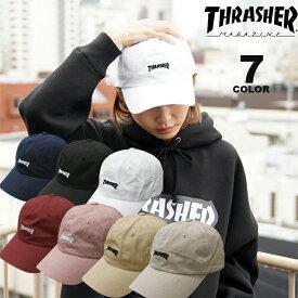 【公式】スラッシャー THRASHER 帽子 MAG LOGO COTTON DAD CAP キャップ メンズ レディース ローキャップ 全7色