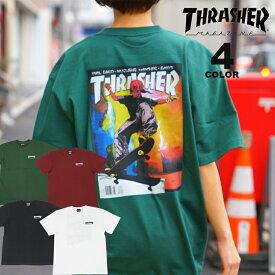 スラッシャー Tシャツ THRASHER JAN 98 S/S T-SHIRTS プリントTEE PUSHEAD パスヘッド メンズ レディース 全4色 S-XL【公式】
