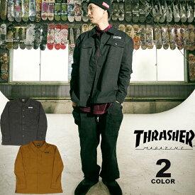 【SALE】 【公式】スラッシャー シャツジャケット THRASHER HOMETOWN MILITARY SHIRTS JACKET メンズ ストレッチ 全2色 M-XL