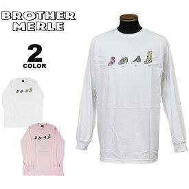 ブラザーマール Tシャツ ロンT BROTHER MERLE Shoes Evolution L/S T-SHIRTS 長袖 TEE プリント メンズ レディース ユニセックス 全2色 S-XL ブラザーマーレ