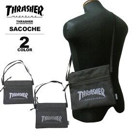 スラッシャー THRASHER サコッシュ MAG LOGO SACOCHE ショルダーバック メンズ レディース ブラック 黒