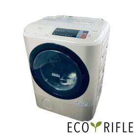 【中古】 【自社配送エリア内限定】日立 HITACHI 洗濯機 ドラム式 ファミリー 中古 2017年製 ドラム式洗濯機 12.0kg/6.0kg ゴールド ドラム 乾燥機能付き BD-NX120AL