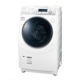ドラム式洗濯乾燥機 右開き シャープ SHARP ES-H10DWR ホワイト マイクロ高圧洗浄 プラズマクラスター 極め洗いコース ホームクリーニングコース