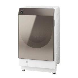 ドラム式洗濯乾燥機 右開き シャープ SHARP ES-G112TR ブラウン系 マイクロ高圧洗浄 ホームクリーニングコース プラズマクラスター 除菌 消臭 静電気対策
