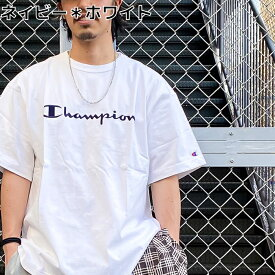 Champion ビッグ刺繍ロゴショートスリーブTシャツ メンズRight-on,ライトオン,C8-P307R,Champion,チャンピオン