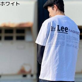 Lee バックテキストプリントTシャツRight-on,ライトオン,LT4090,Lee,リー