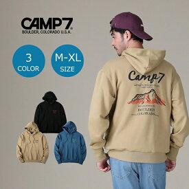 CAMP7 バックプリントパーカー メンズ 登山 アウトドア アウトドアファッション 山登り キャンプ あったか おしゃれ ペア カップル ペアルック パーカー バックプリントRight-on,ライトオン,CP-4214006,CAMP7,キャンプ7