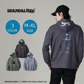 BRANDALISED (ポイント20倍!)  プリントパーカー バンクシー メンズRight-on,ライトオン,BNK-4214002,BRANDALISED,ブランダライズド