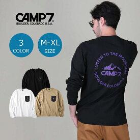 CAMP7 ナイロンポケットロンT メンズ 全3色 長袖Tシャツ ロンティー カットソー おしゃれ メンズファッション 長袖 ブランド ブラック グレー ホワイト ペア カップル ペアルック お揃い Right-on,ライトオン,CP-4214001,CAMP7,キャンプ7