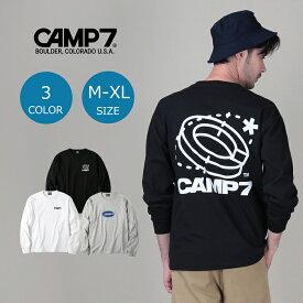 CAMP7 コラボグラフィックロンT メンズ 全3色 M-XL 登山 アウトドア アウトドアファッション 山登り キャンプ あったか おしゃれ ペア カップル ペアルックRight-on,ライトオン,CP-4214003,CAMP7,キャンプ7