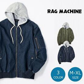 RAG MACHINE フードMA-1メンズ 全2色 M-XLRight-on,ライトオン,RM-4216001,RAG MACHINE,ラグマシーン