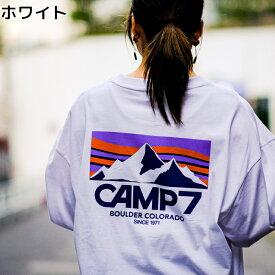 CAMP7 ロゴプリントロンT キャンプ プリント ロンT 新作 スポーツミックス オシャレ トレンドRight-on,ライトオン,CP4202432001,CAMP7,キャンプ7