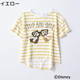 DISNEY プリントボーダーTシャツ(チップ&デール) キッズRight-on,ライトオン,DNJ4032509,DISNEY,ディズニー