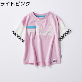 FILA 【FILA×TEGTEG cheered by Girls2】 袖切り替えTシャツ(ジュニアサイズ155cm) キッズRight-on,ライトオン,764506,FILA,フィラ